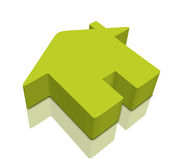 3D Home icons. Three - dimensional Shape with home icon stock illustration