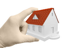 3d Home On The Hand Stock Photography