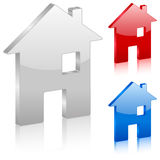 3D home symbol Stock Photo