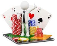 3D homem - jogos onlines do casino Imagem de Stock Royalty Free