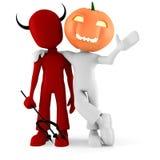 3d homem, partido do traje de Halloween Foto de Stock