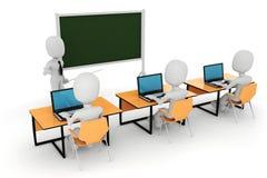3d homem - sala de aula ilustração do vetor