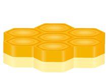 3D honeycomb Royalty Free Stock Images