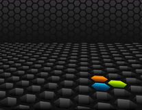 3D honeycomb mesh background Royalty Free Stock Photography