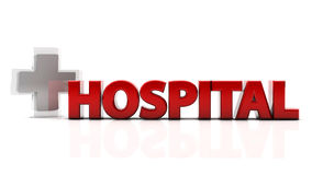 3d hospital Royalty Free Stock Images