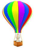 3D hot-air balloon Royalty Free Stock Photography