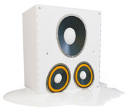 3d hot melting speaker Stock Image