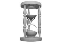 3D hourglass Stock Images