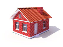 3d house. On white - 3d rendered illustration Royalty Free Stock Photography