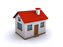 3d house. 3d render of a house isolated on a white background Stock Photography