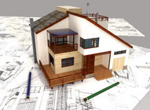 3d house Stock Photos