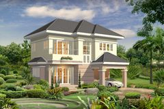 3d house Royalty Free Stock Photo