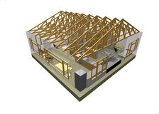 3D house Stock Images