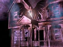 3D house with angel. Stock Photos