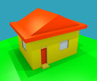 3D house exterior Royalty Free Stock Image