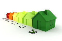 3d house green energy concept Royalty Free Stock Photography