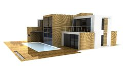 3d house isolated on white vector illustration