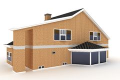 3d house isolated on white Stock Photography