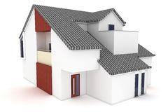 3d house isolated on white Royalty Free Stock Photos