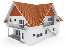 3d house isolated on white Royalty Free Stock Image