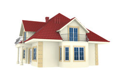 3d house isolated on white background royalty free illustration
