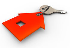 3d house key chain Royalty Free Stock Photography