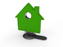 3d house key green Stock Images