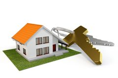 3d house with keys Stock Images