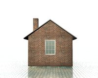 3d house model. On a white dotted back Royalty Free Stock Images