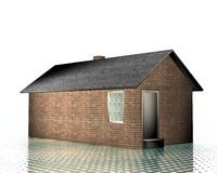 3d house model. On a dotted background Stock Images