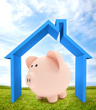 3D house mortgage Stock Image