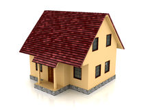 3d house over white background Stock Photography
