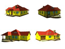 3d house project isolated on white Stock Photography