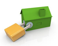 3d house protection Stock Photos
