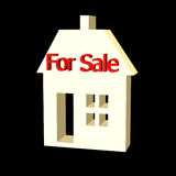 3D house for sale Stock Images