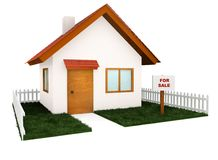 3D house for sale Stock Image