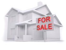 3D house for sale Royalty Free Stock Photo