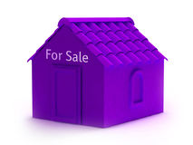 3d house for sale. 3d house illustration perfect for your real estate advertisements stock illustration