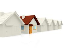 3D house standing out Royalty Free Stock Photos