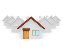 3D house standing out Stock Photography