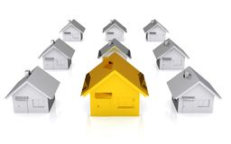 3D house standing out Stock Photo