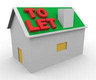 3d house to let. 3d render of house and word to let Stock Photos