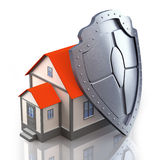 3d House under protection Royalty Free Stock Photography