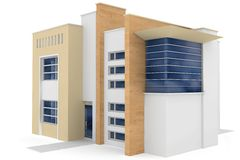 3d house on white. 3d house generic rendered  on white  background Stock Image