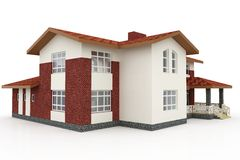 3d house on white Royalty Free Stock Photos
