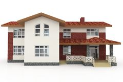 3d house on white Stock Images