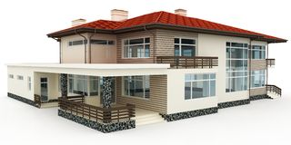 3d house on white Royalty Free Stock Photography