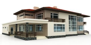 3d house on white Stock Photography