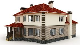 3d house on white Stock Photo