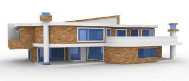 3d house on white Royalty Free Stock Photo